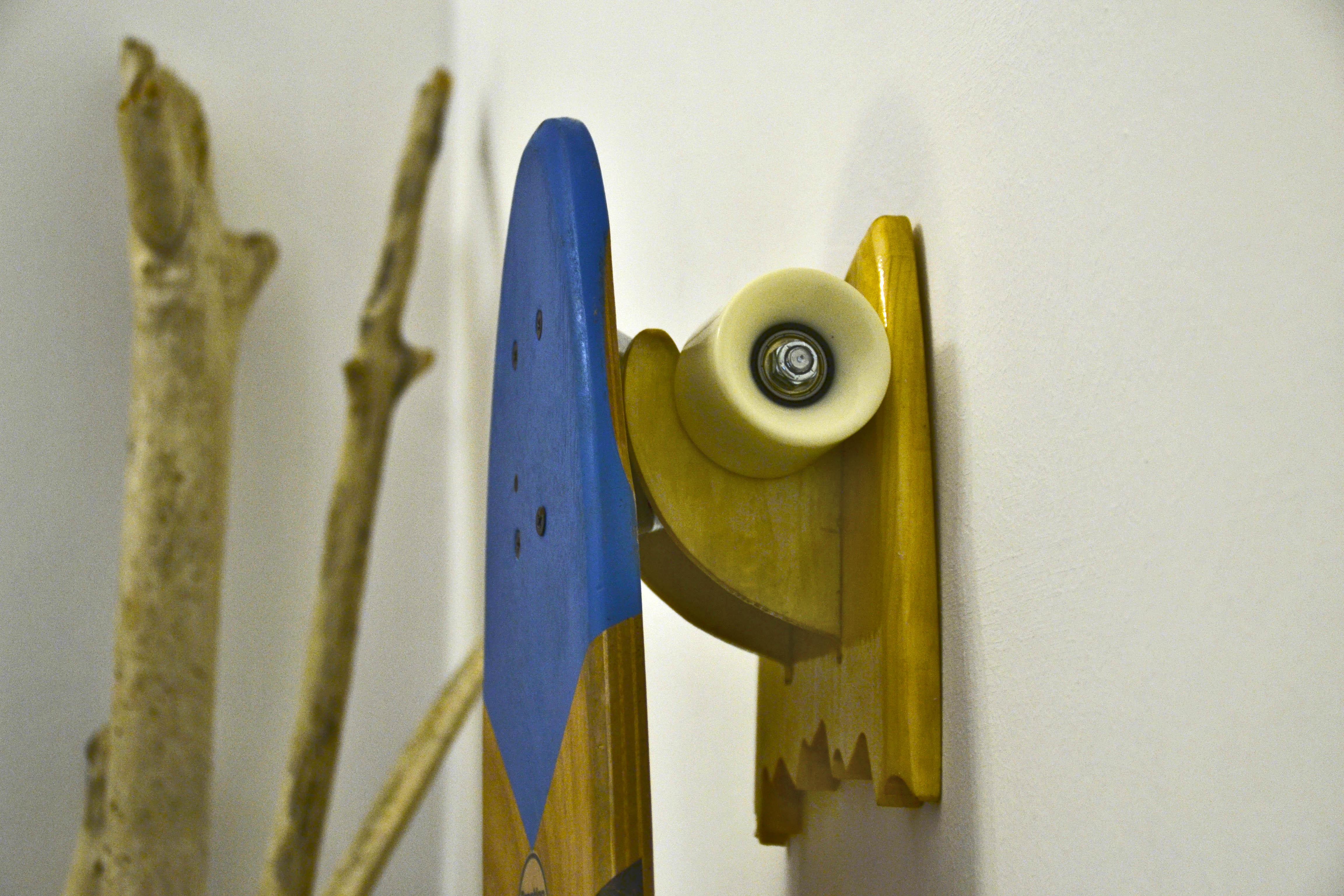 Porta Skateboard Da Muro.Porta Skateboard In Legno Wood Skate Rack