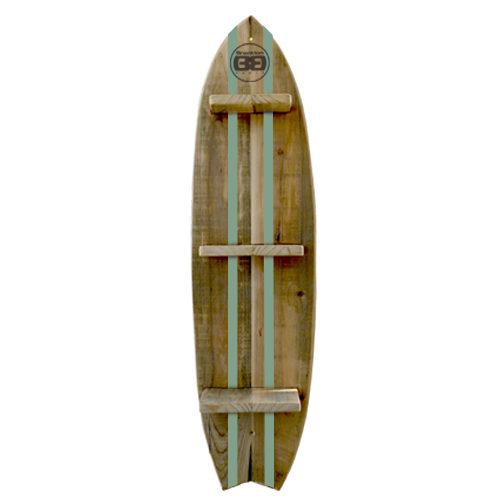 Mensola surf style – righe verdi