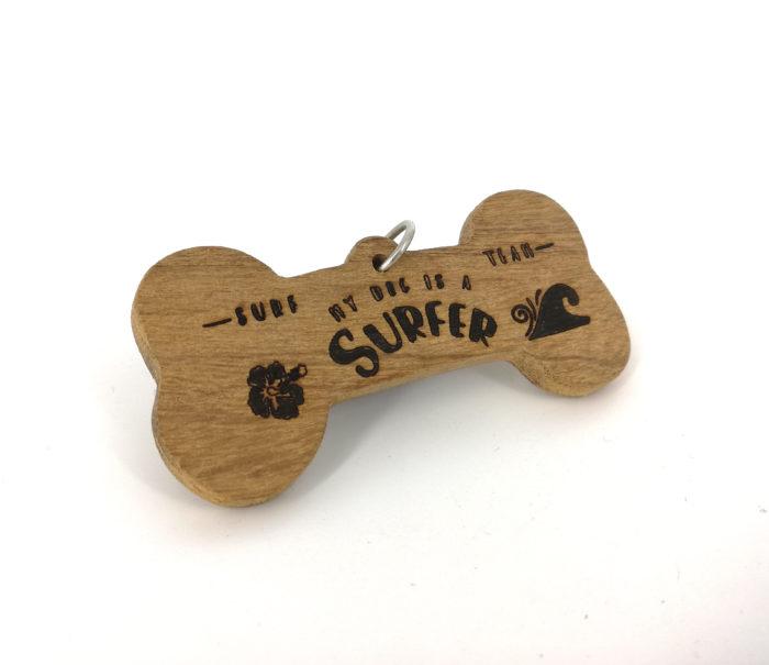 medaglietta per cane a forma di osso