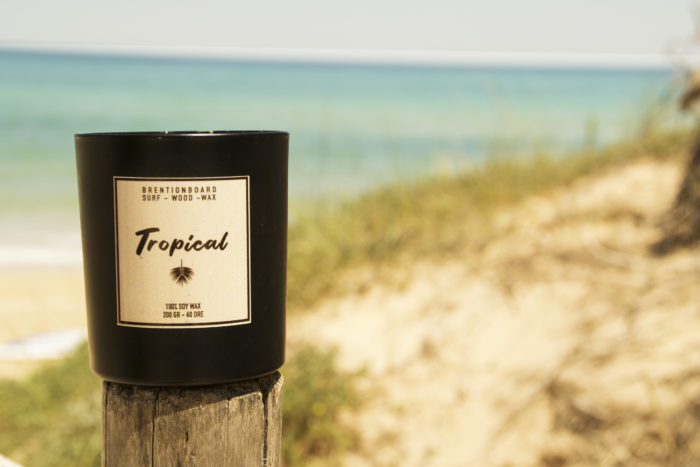 soy candle - tropical - surf candle