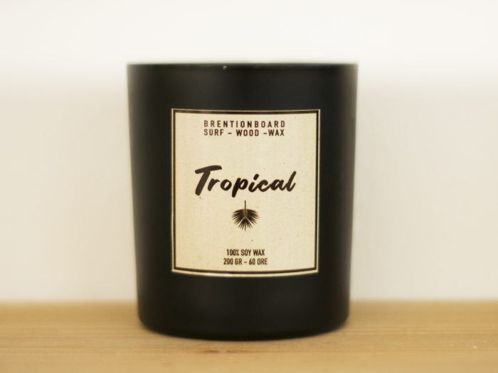 soy candle tropical